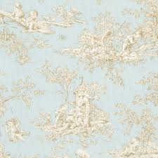 Toile Rugs Baby Toile Horizon Fabric By The Yard Blue Fabric Carousel Designs