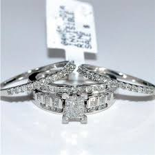 Wedding Rings Princess Cut by Wedding Set 3pc Engagement Ring 2 Wedding Bands Princess Cut
