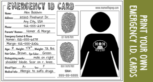 emergency id cards free download mom with a prep