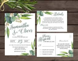 wedding invitations greenery greenery wedding invitation eucalyptus wedding invitation
