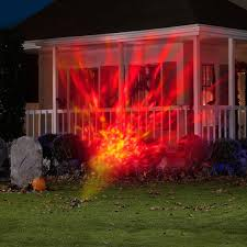halloween projector animated outdoor projection images fire flames