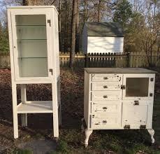 Vintage 1950 S Metal Kitchen Cabinet Enamel Top Ebay by 2 Vintage Metal Medical Cabinets With Many Vintage Medical