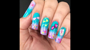 pool party themed nail art youtube