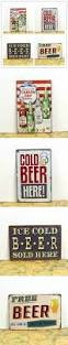 vintage beer tin sign delicate metal craft for pub coffee