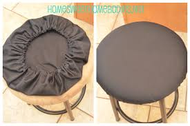 How To Cover A Chair Seat Bar Stools Bar Stool Covers With Elastic Round Chair Cushion