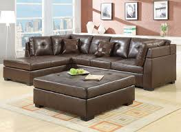 L Leather Sofa Living Room Enjoyable Brown L Shape Leather Sofa Living Room