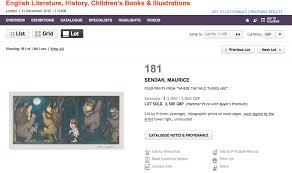 attempted bloggery signed maurice sendak wild prints