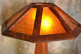 Arts And Crafts Desk Lamp Craftsman Table Lamp Mission Style Lamp Mica Shade
