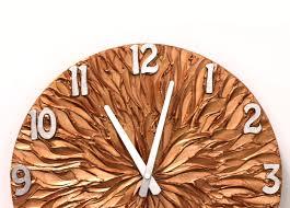 large wall clock copper wall clock copper and silver original