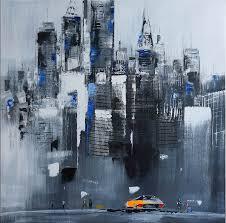 oil painting skyline of manhattan iii new york m klein 299