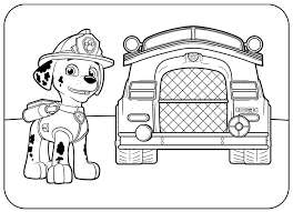 marshall paw patrol coloring pages print coloring pages fire dog