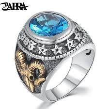 blue rock rings images Buy zabra 925 silver blue zircon men ring vintage jpg