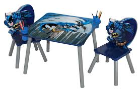 Table And Chair Sets Warner Brothers Batman Wooden Kids U0027 3 Piece Table And Chair Set