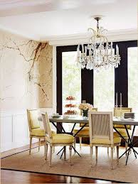 dining room wainscoting tall white with wallpaper and hardwood