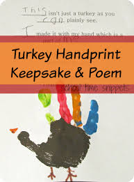turkey handprint keepsake poem school time snippets