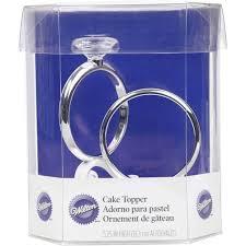 two rings wedding cake topper wilton