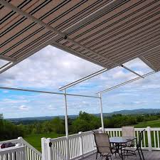 Retractable Awning With Screen Awnings For Bergen County Window Works Of Nj