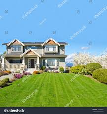 Luxury Home Design Show Vancouver Luxury House Sunny Day Vancouver Canada Stock Photo 115800847