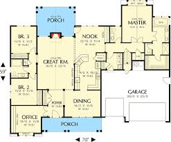 craftsman style floor plans an empty nester s dream home 69005am architectural designs