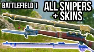 martini henry ww1 battlefield 1 all snipers skins bf1 weapon customize menu