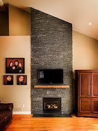 Emejing Fireplace Stone Veneer Images Aamedallionsus - Stacked stone veneer backsplash