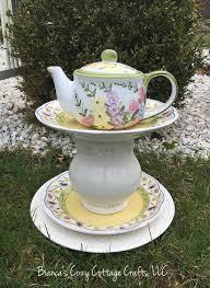 Upcycled Garden Decor Teapot Whimsy Garden Whimsy Garden Art Sculpture Garden Totem