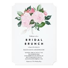 bridal shower brunch invitations announcements zazzle