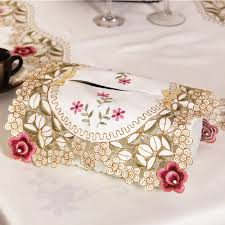 Embroidered Home Decor Fabric Online Buy Wholesale Embroidered Tissue Box Cover From China