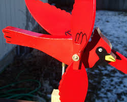 fathers day cardinal wind spinner handcrafted cardinal