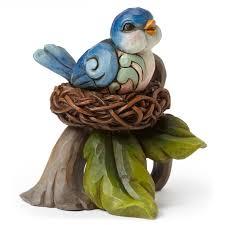 jim shore thanksgiving figurines jim shore mini bluebird in nest figurine figurines hallmark