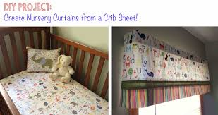 Baby Nursery Curtains by Diy Project Curtains From A Crib Sheet Bugaboocity