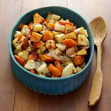 Recipe For Roasted Root Vegetables - honey and thyme glazed roasted root vegetables recipe weight