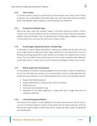 design implementation proposal sle guide for writing website development proposal