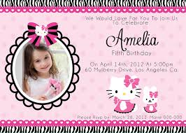 simple hello kitty birthday invitation card 53 with additional