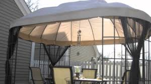 Garden Winds Pergola by Replacement Canopy For The Home Depot Oval Dome Gazebo Youtube