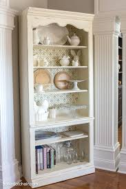 diy stenciled bookcase giveaway project she painted the with chalk diy stenciled bookcase giveaway project she painted the with chalk paint then a pattern shabby home decor