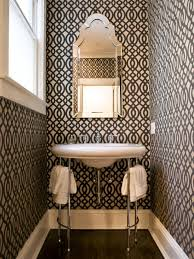 bathroom with wallpaper ideas small baths with big style hgtv