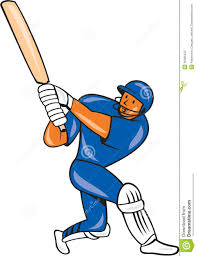 india cricket player batsman batting cartoon stock vector image