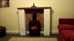 how to make a fire place surround for electric stove for less