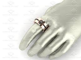 Mens Gold Diamond Wedding Rings by Sapphire Studios Natural Black Diamond Rose Gold Wedding Band Ring