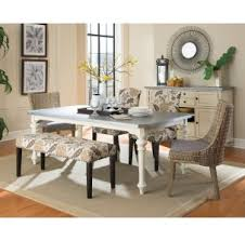 matisse antique white dining table with galvanized metal top for