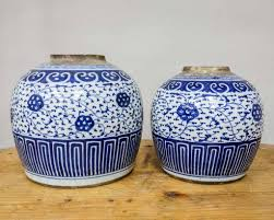 antique delfts blue ginger jar seres collection