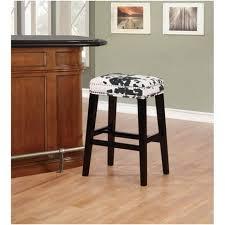 linon home decor products inc walt walnut gray bar stool walt black cow print bar stool black white linon target