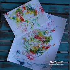 doodlecraft marbled paper with shaving cream