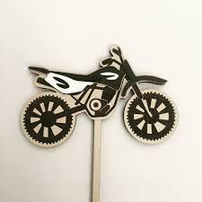 bicycle cake topper dirt bike cake topper kasoobi