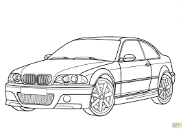 bmw m3 coupe coloring page free printable coloring pages