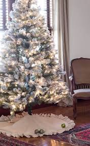 no sew drop cloth tree skirt finding silver pennies