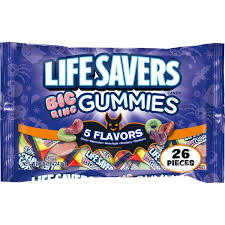 halloween candy bowl shop lifesavers 5 flavors big ring gummies halloween candy bag 26 fun