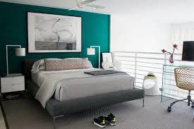 deco chambre turquoise bleu turquoise et gris en 30 idées de peinture et décoration