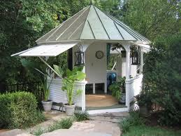 Gazebo Patio Ideas by Steel Roof Gazebo With Push Out Shutters Fairytale Gazebos